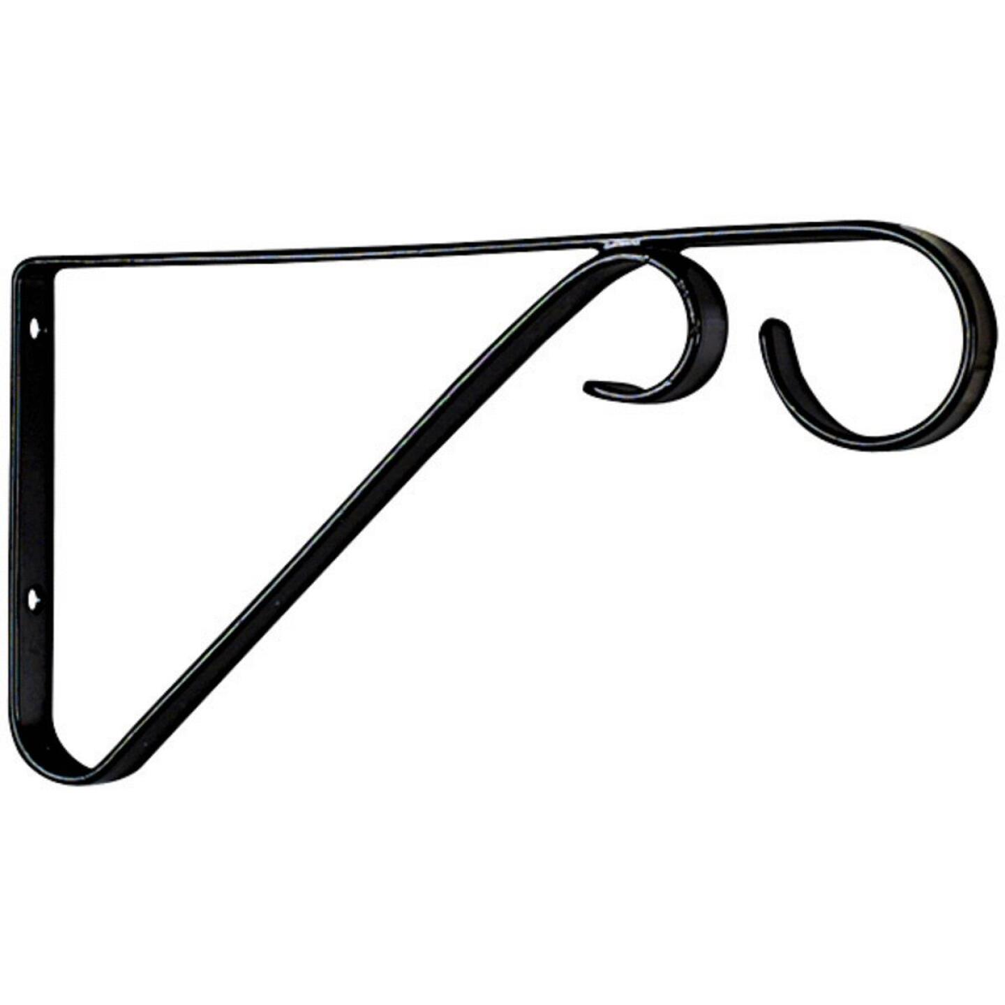 National 6 In. Black Steel Hanging Plant Bracket Image 3